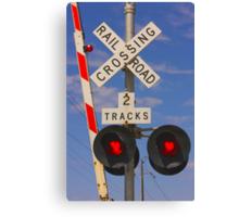 Trains - Railroad Crossing Canvas Print