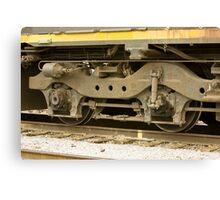 Trains - Locomotive Wheel Detail Canvas Print