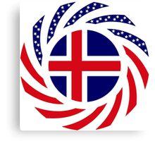 Icelander American Multinational Patriot Flag Series Canvas Print