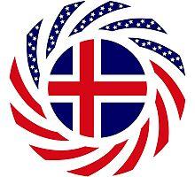Icelander American Multinational Patriot Flag Series Photographic Print