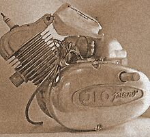 ILO - old moped motor by Paola Svensson