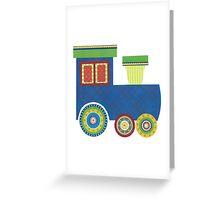 Kids Train Engine Greeting Card