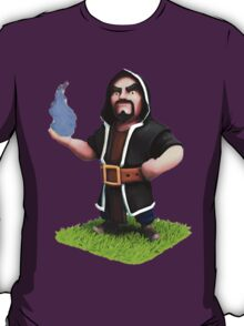 Wizard and Blue Flame Clash of Clans Art T-Shirt