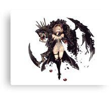Shinigami Girl Canvas Print