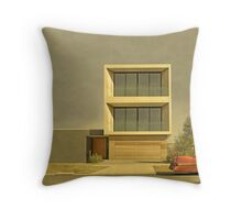 Postmodern Drive By Throw Pillow