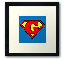 Super G Framed Print