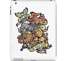 game of thrones-you win or die iPad Case/Skin