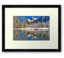 Winter Reflection Yosemite Framed Print