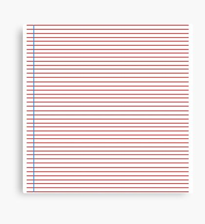 Lined Paper Canvas Print