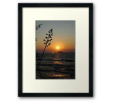 Lake Sunrise Framed Print
