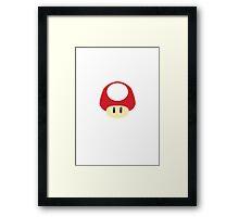 Super Mario - Super Mushroom Framed Print