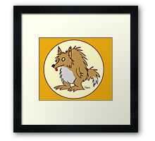 Stubby the Werewolf Framed Print
