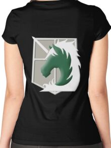 Military Police Emblem Women's Fitted Scoop T-Shirt