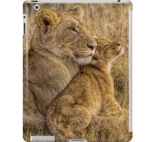 Lion Baby with Mother iPad Case/Skin