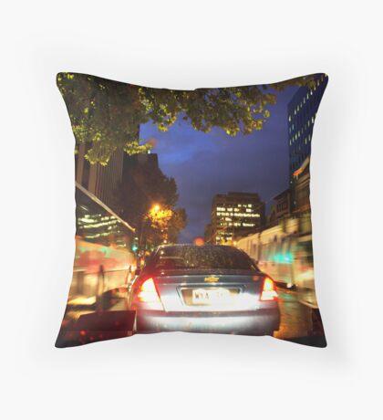 Rainy evening at King William Street Throw Pillow