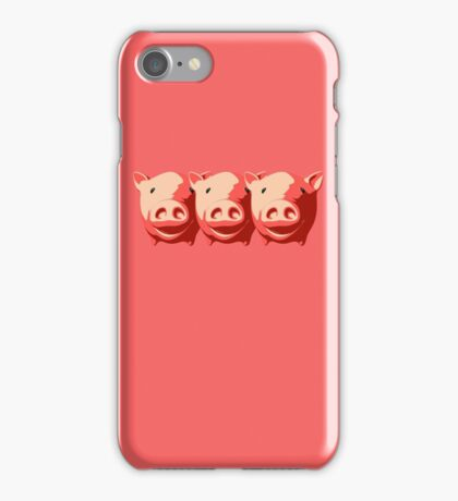 Three little pigs iPhone Case/Skin