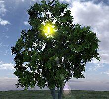 Lens Flare thru Tree by Delphi