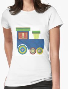 Kids Train Engine Womens Fitted T-Shirt