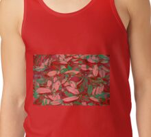 Pink Red and Green Fallen Leaves Tank Top