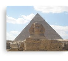 The Sphinx guarding the pyramids Canvas Print