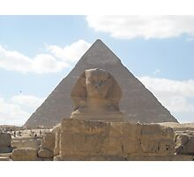 The Sphinx guarding the pyramids Photographic Print