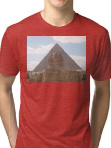 The Sphinx guarding the pyramids Tri-blend T-Shirt