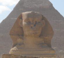 The Sphinx guarding the pyramids Sticker