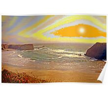 West Coast Sunset 10 Poster