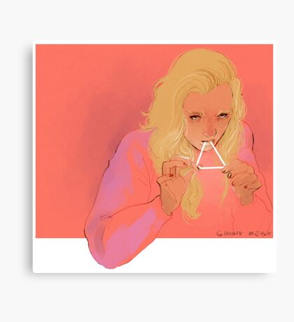 triangle eater Canvas Print