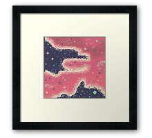 Pink Midnight Galaxy (8bit) Framed Print