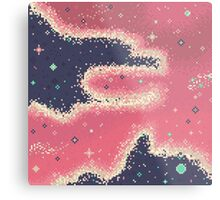 Pink Midnight Galaxy (8bit) Metal Print
