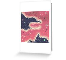 Pink Midnight Galaxy (8bit) Greeting Card