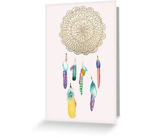 Medallion Tumblr Dreamcatcher Greeting Card