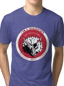 I AM A TRICERATOPS - Red/Black MBH Tri-blend T-Shirt