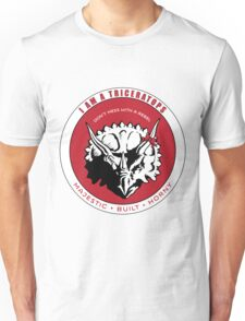 I AM A TRICERATOPS - Red/Black MBH Unisex T-Shirt