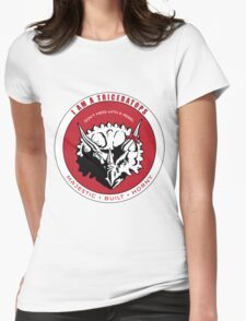 I AM A TRICERATOPS - Red/Black MBH Womens Fitted T-Shirt
