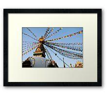 Stupa Flight Framed Print