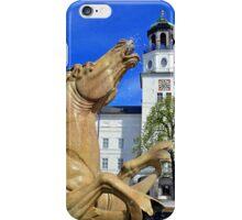 Horse Fountain in Salzburg Austria iPhone Case/Skin