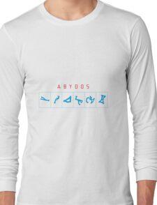 Abydos chevron white background Long Sleeve T-Shirt
