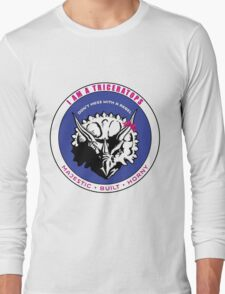 I AM A TRICERATOPS - Pink/Blue MBH Long Sleeve T-Shirt
