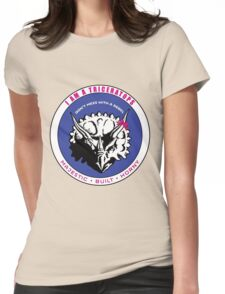 I AM A TRICERATOPS - Pink/Blue MBH Womens Fitted T-Shirt