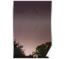 Star Trail Rays Poster