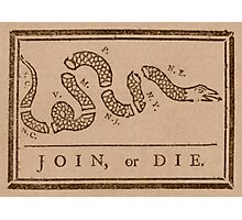 Join or Die Photographic Print