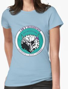 I AM A TRICERATOPS - Teal/Purple MBH Womens Fitted T-Shirt