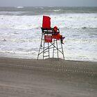 Hurricane on beach in NY. Lonley Lifeguard! by Jacker
