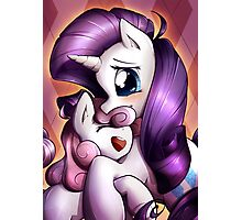 Sisterly love - Rarity & Sweetie Belle Photographic Print