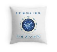 Earth destination gate Throw Pillow