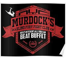 Murdock's Blind Fury Fight Club - Dist Red/White V02 Poster