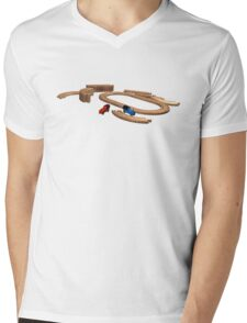 I learned everything from Thomas the Tank Engine Mens V-Neck T-Shirt