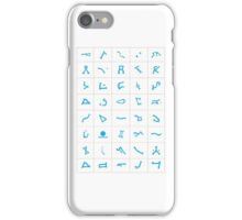 Table of chevrons white background iPhone Case/Skin